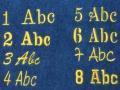 Schriftarten für Namenstick
